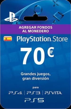 Tarjeta PlayStation Plus 70 Euros España