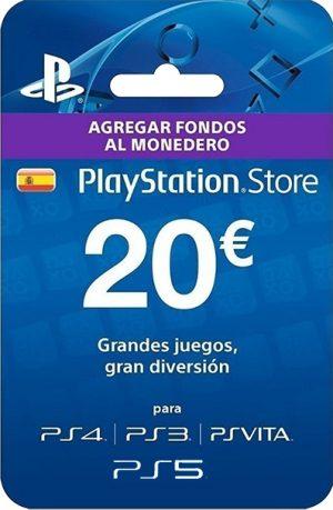 Tarjeta PlayStation Plus 20 Euros España