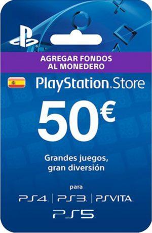 Tarjeta PlayStation Plus 50 Euros España