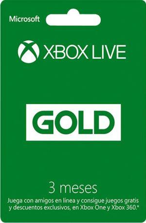 Suscripción Xbox Live Gold 3 Meses