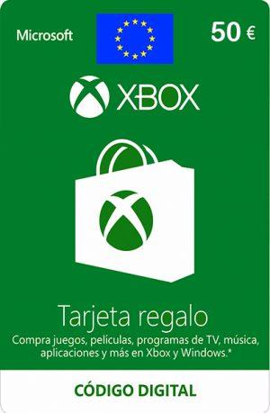 Tarjeta Xbox Live 50 Euros