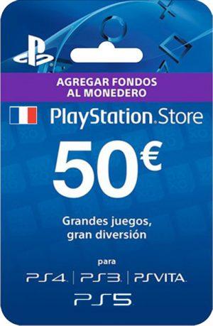 Tarjeta PlayStation Plus 50 Euros Francia