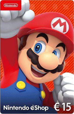 Tarjeta Nintendo eShop 15 euros