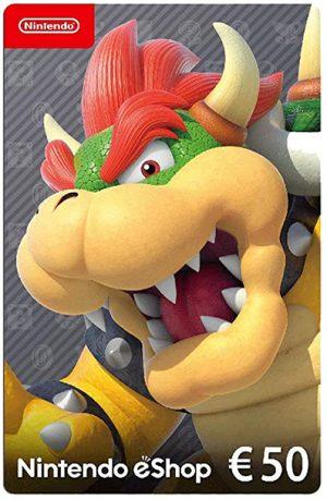 Tarjeta Nintendo eShop 50 euros